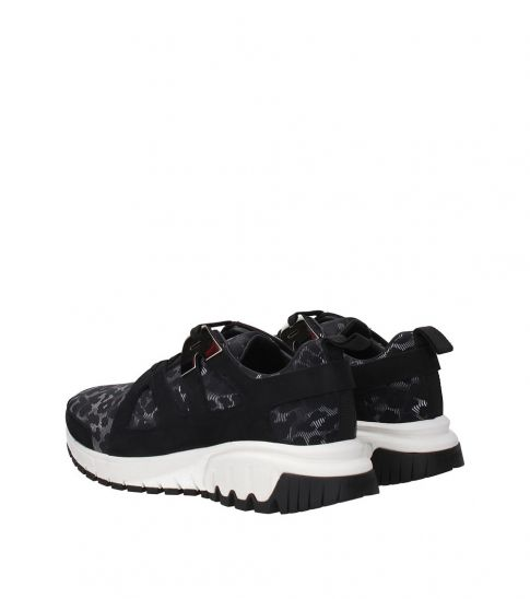 Neil Barrett Black Grey Sporty Sneakers