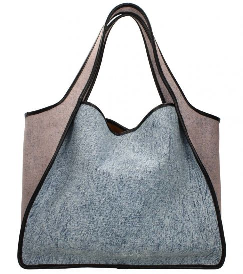 Stella McCartney Light Blue Perforated Large Tote