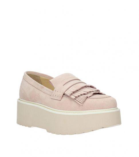 Hogan Pink Fringes Front Loafers