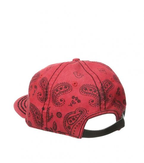 True Religion Red Bandana Strapback Cap