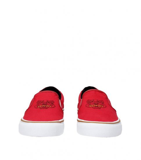 Kenzo Red Front Logo Loafers