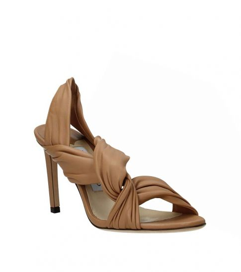 Jimmy Choo Brown Lalia Leather Heels
