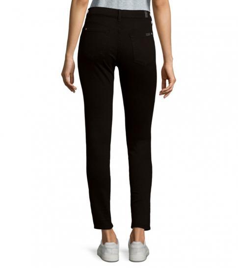 7 For All Mankind Black Five-Pocket Skinny Jeans