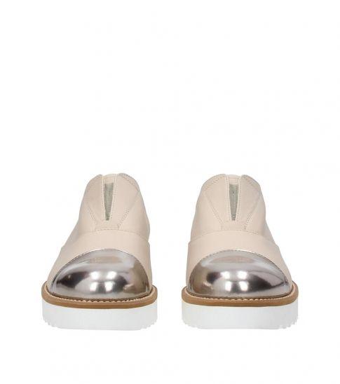 Hogan Beige Cap Toe Dress Shoes