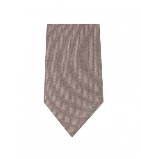 Michael Kors Brown Neat Slim Silk Tie