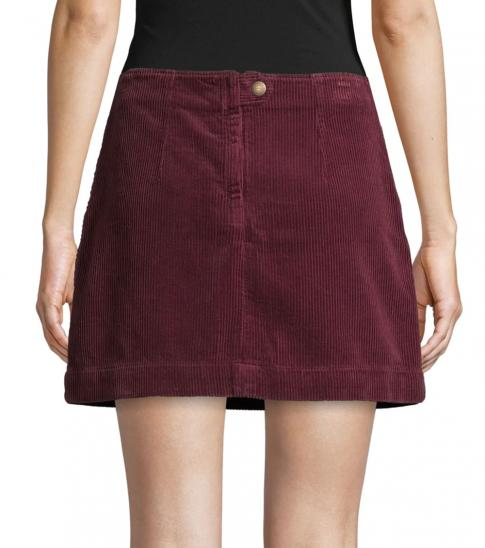 AG Adriano Goldschmied Cherry Rich Carmine Textured Corduroy Skirt