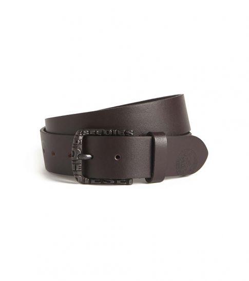 Diesel Brown Solid Leather Belt
