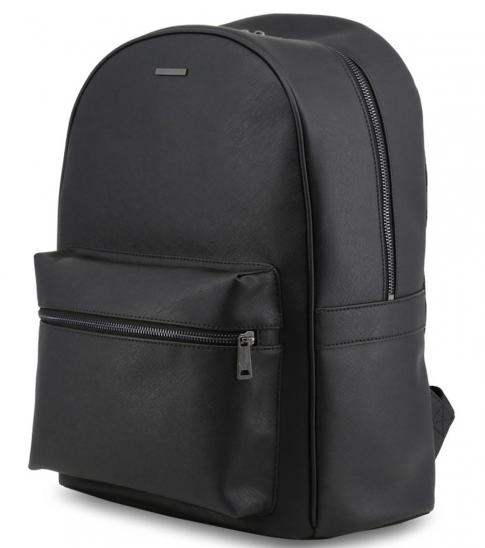 Armani Jeans Black Solid Large Backpack