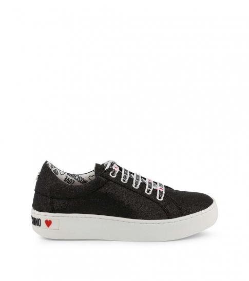 Love Moschino Black Glitter Low Top Sneakers