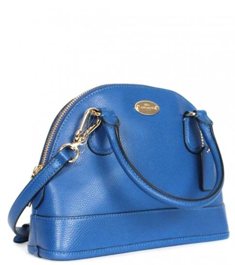 Coach Denim Cora Domed Small Satchel