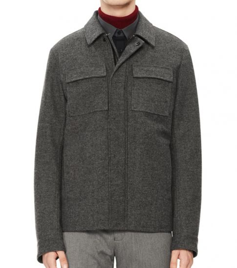 Calvin Klein Grey Classic Textured Jacket