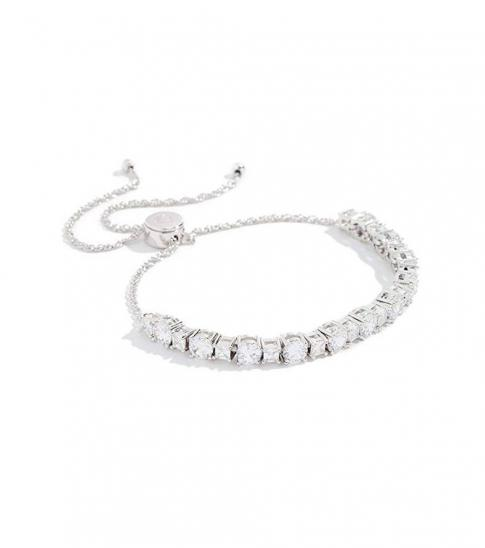 Kate Spade Silver Zirconia Bangle Bracelet