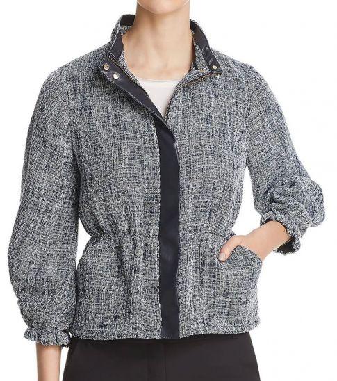 DKNY Multi color Peplum Dressy Jacket