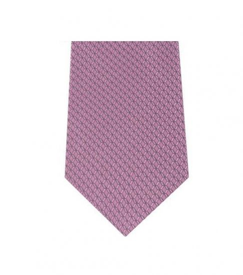 Michael Kors Pink Traditional  Geo Slim Honeycomb Silk Tie