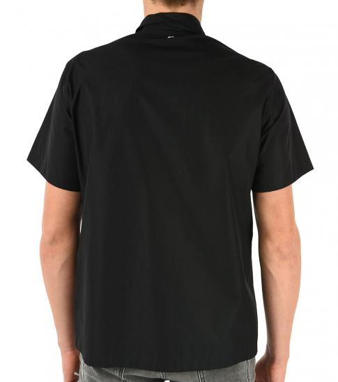 Just Cavalli Black Short Sleeve Printed Shirt