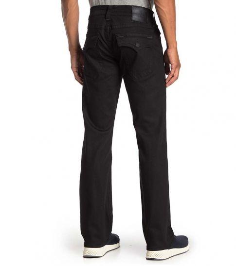 True Religion Black Ricky Flap Relaxed Straight Leg Jeans