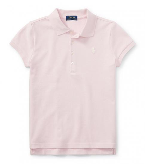 Ralph Lauren Girls Light Pink Cotton Polo Polo