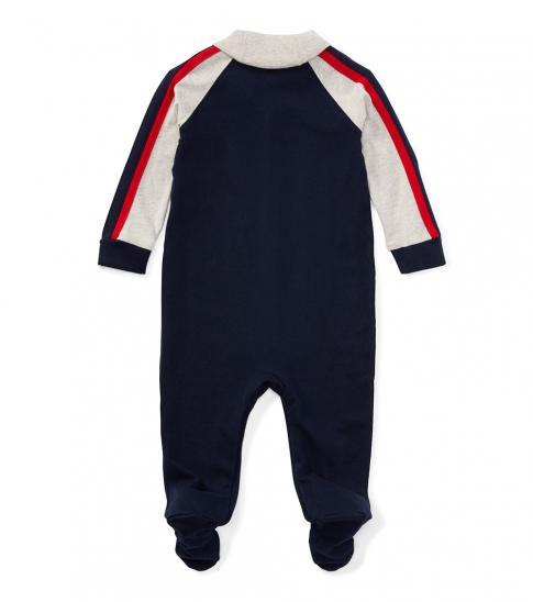 Ralph Lauren Baby Boys Navy Jersey Coverall