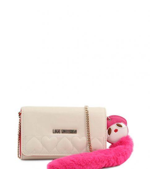 Love Moschino White Fur Doll Clutch