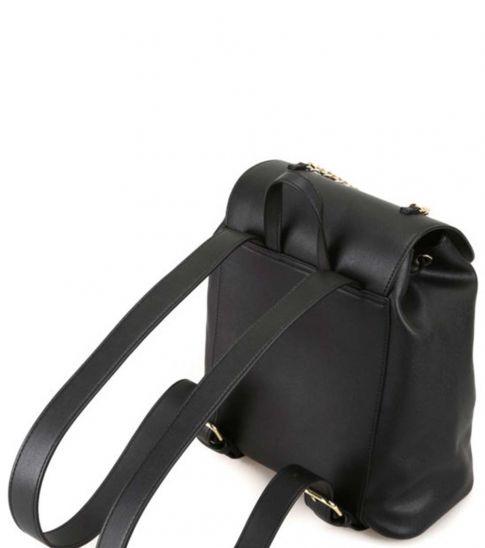 Love Moschino Black Chain Medium Backpack