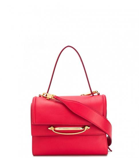 Alexander McQueen Red The Story Small Satchel