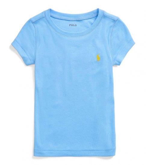 Ralph Lauren Little Girls Harbor Island Blue Cotton-Modal T-Shirt