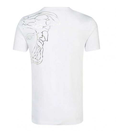 Versace Collection White Printed Cotton T-Shirt