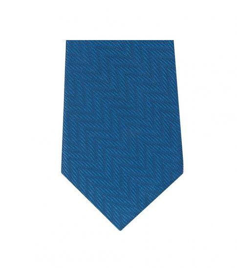 Michael Kors Blue Timeless Chevron Slim Silk Tie