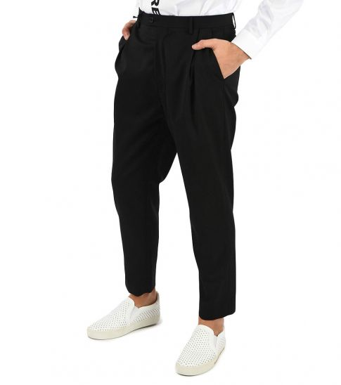 Just Cavalli Black Logo Side Band Trousers