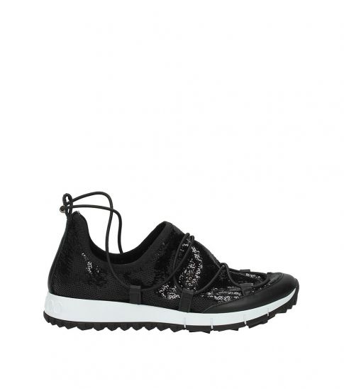 Jimmy Choo Black Glitter Sneakers