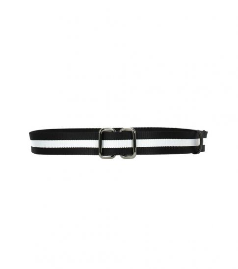 Dolce & Gabbana Black Striped Belt