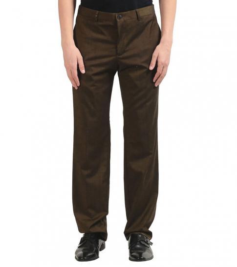 Versace Collection Dark Green Wool Dress Pants