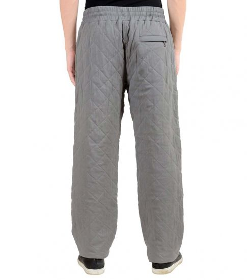 Dolce & Gabbana Grey Thermal Padded Casual Pants