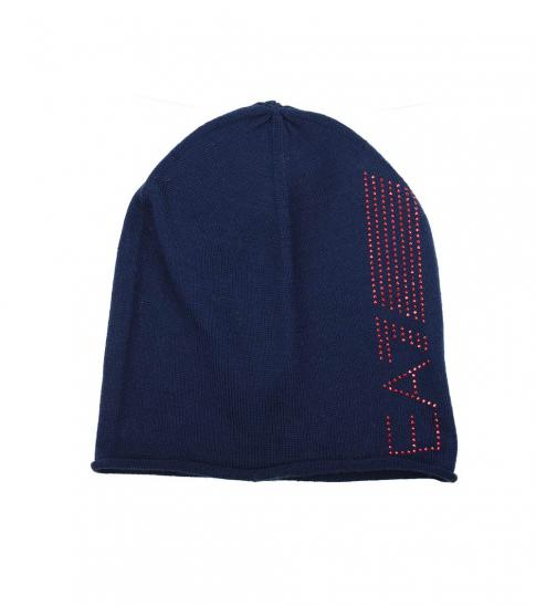 Emporio Armani Dark Blue Mixed Fabric Hat