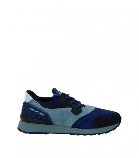 Hogan Blue Sporty Sneakers
