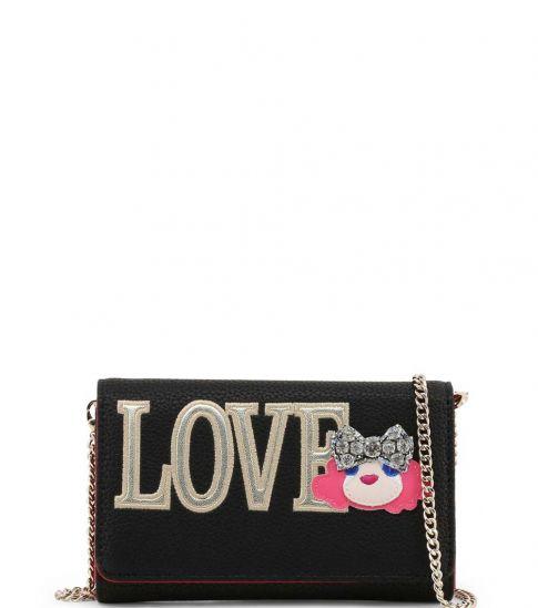 Love Moschino Black Doll Love Clutch