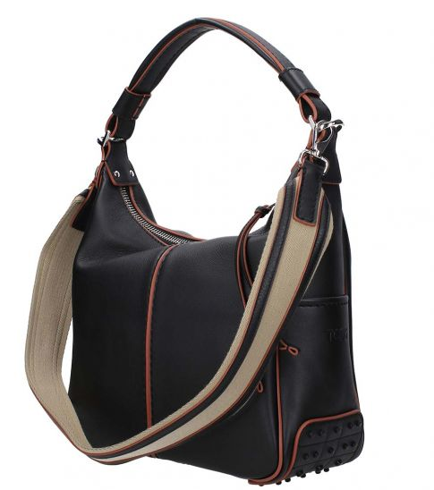 Tod's Black Shopper Medium Hobo