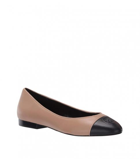 Michael Kors Toffee Black Dylyn Ballet Flats