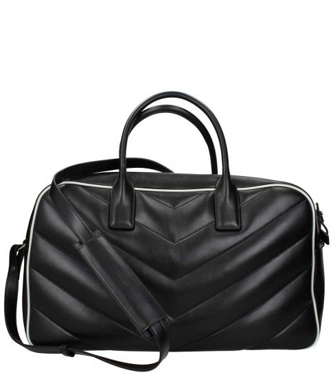 Saint Laurent Black Logo Large Satchel