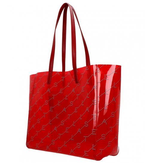 Stella McCartney Red Shopping Large Tote