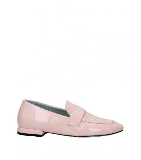 Chiara Ferragni Pink Leather Loafers