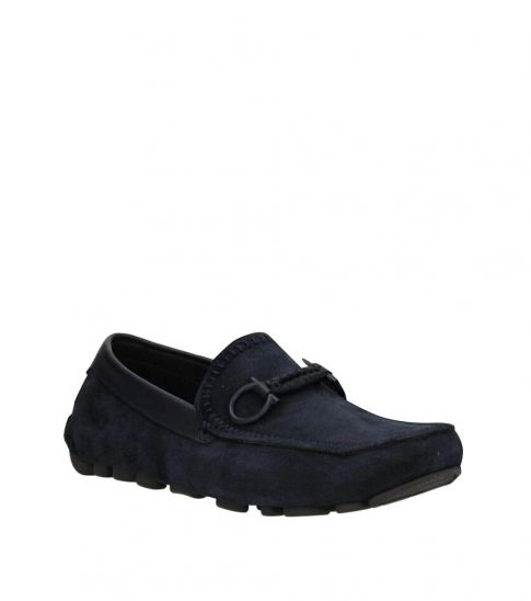 Salvatore Ferragamo Blue Antigue Loafers