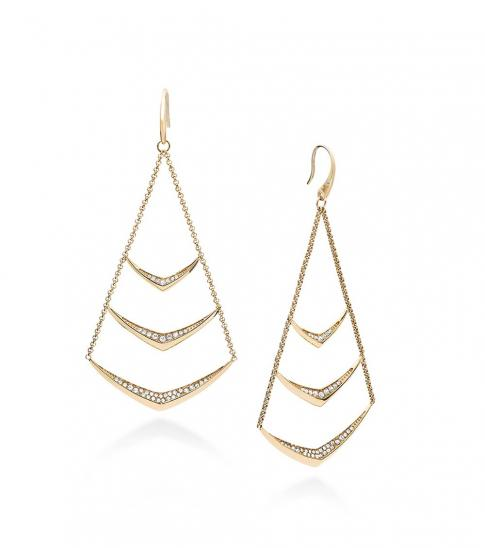 Michael Kors Gold Pave Chandelier Earrings