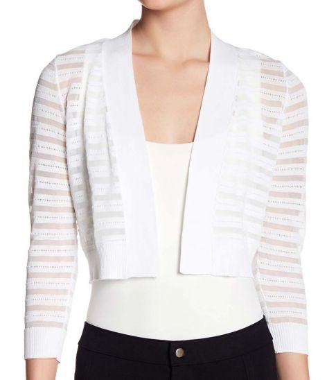 Calvin Klein White Shadow Stripe Shrug