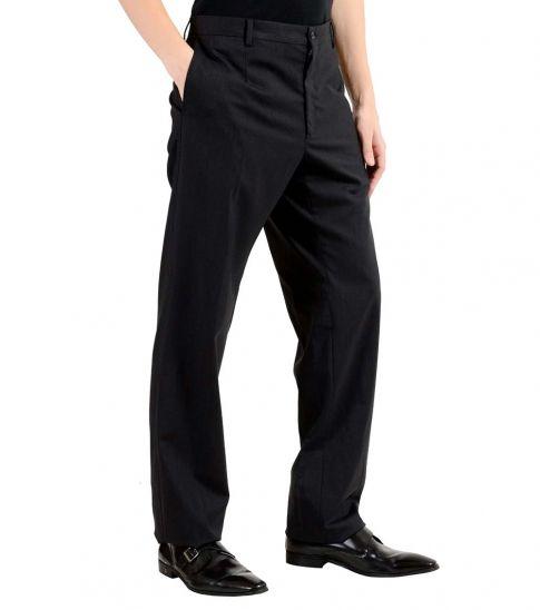 Dolce & Gabbana Charcoal Flat Front Dress Pants
