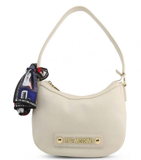 Love Moschino White Scarf Medium Hobo