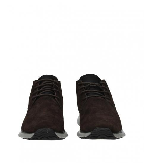 Hogan Brown Side Logo Sneakers