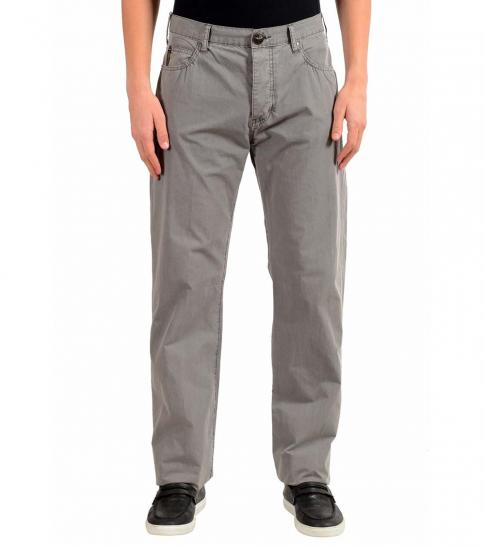 Armani Jeans Grey Straight Leg Light Jeans