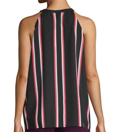 Calvin Klein Black Striped Sleeveless Top