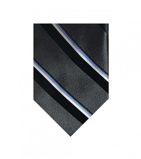 Valentino Garavani Black Striped Groovy Tie
